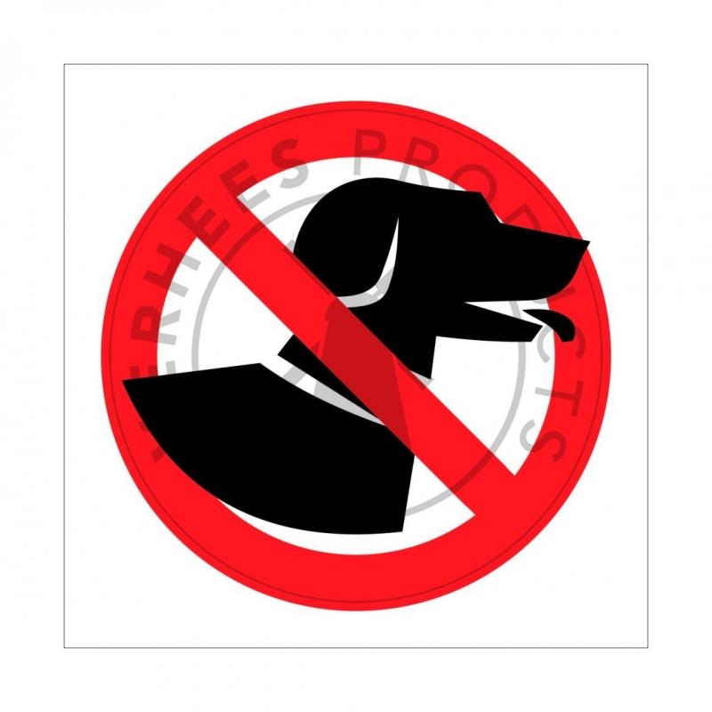 Signalisatiebordjes verboden voor honden
