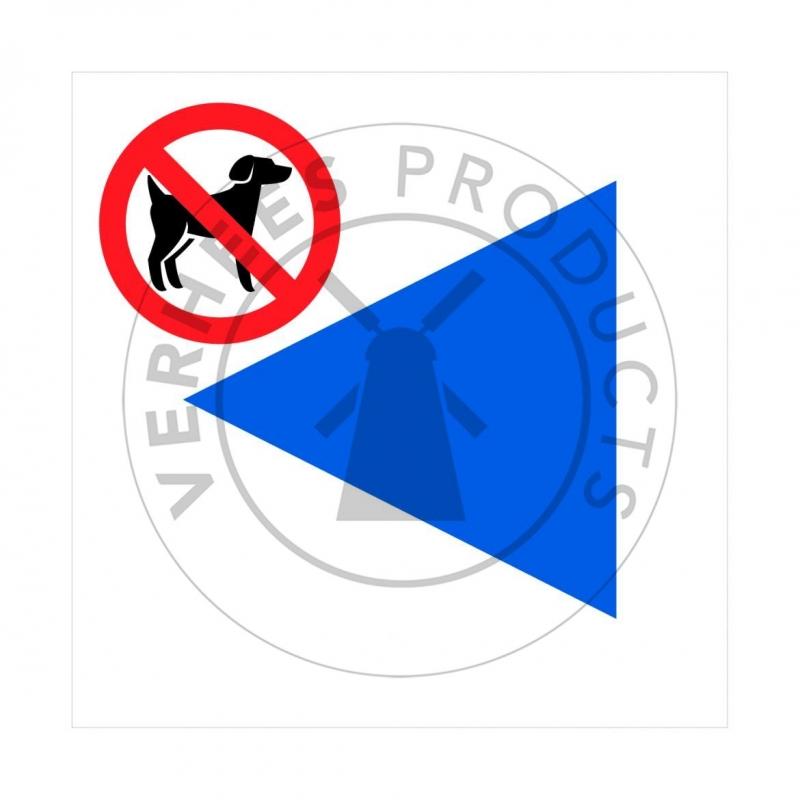Signalisatiebordjes voor wandelroutes zonder honden