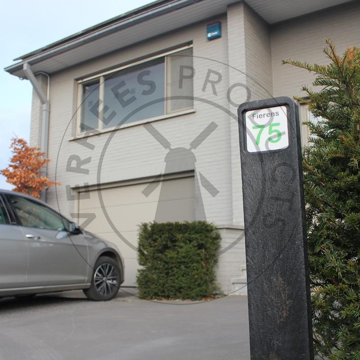 Kunststof Huisnummerpaal