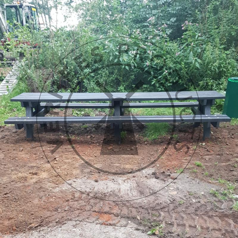 Kunststof Picknicktafel 'Zomer' XL zonder ingraafpoten