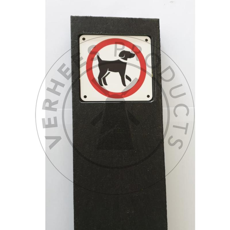 Huisnummerplank met bordje verboden voor honden