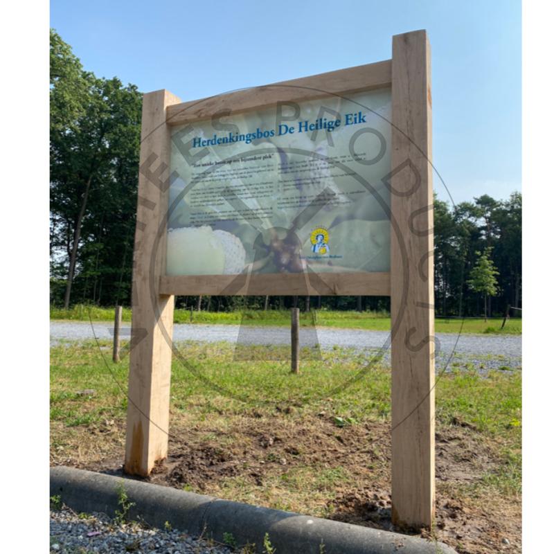 Eikenhouten frame inclusief informatiepaneel
