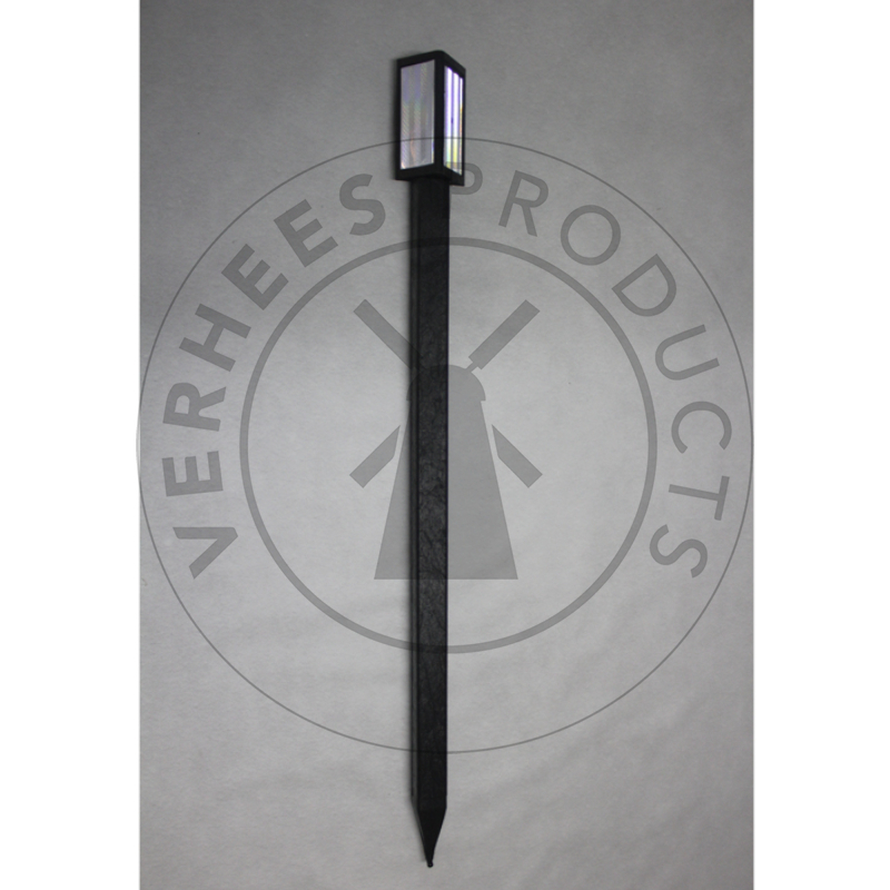 Kunststof zwarte Wildspiegelpaal met 2 reflectoren