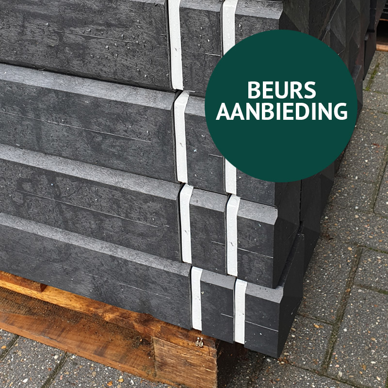 BEURSAANBIEDING - 98 x Kunststof Verkeersafzetpaal