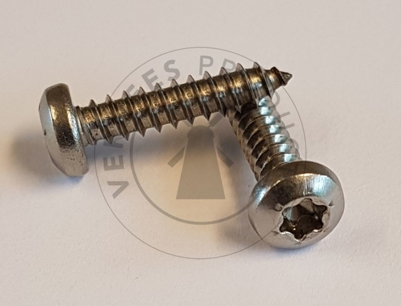 Standaard bolkopschroef TX20 4,2×19 mm Roestvaststaal (RVS) (p/1000st.)