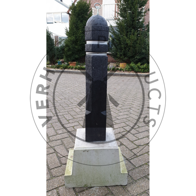 Kunststof Achthoekige Afneembare Verkeer afzetpaal incl.betonvoet