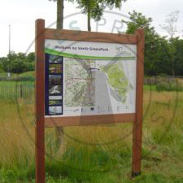 Panelen plattegrond en routing Venlo Greenpark (Floriade)